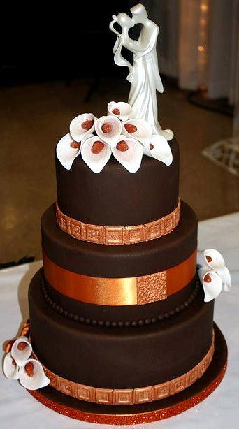 3 Tier Chocolate Wedding Cake Recipe
