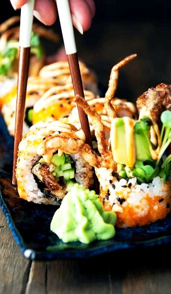 Amazing sushi recipe from southeast asia