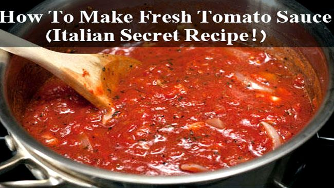 Authentic italian spaghetti sauce recipe fresh tomatoes