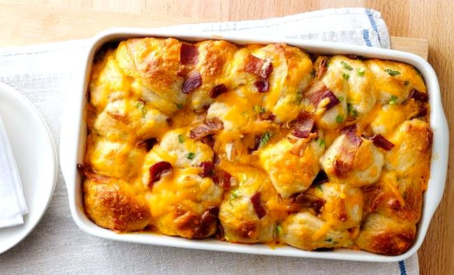 Bacon cheese biscuits recipe made with grands