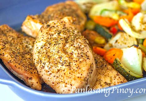 Bake Whole Chicken Recipe Panlasang Pinoy