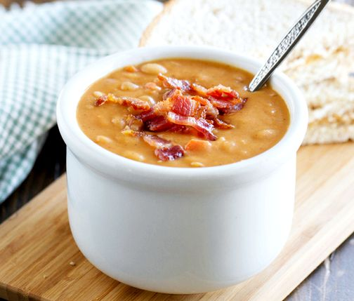 Bean and bacon soup homemade recipe