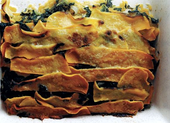 Butternut squash and creamed spinach gratin recipe