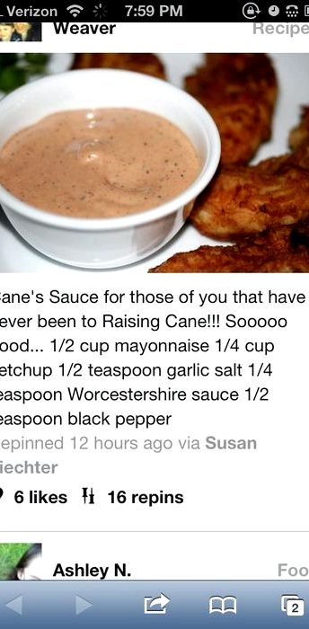 Canes sauce recipe leaked jennifer