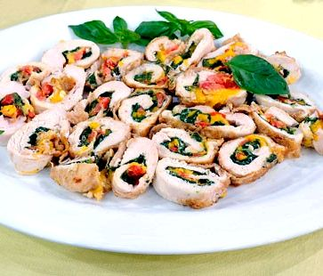 Chicken roulade recipe with spinach and cheese