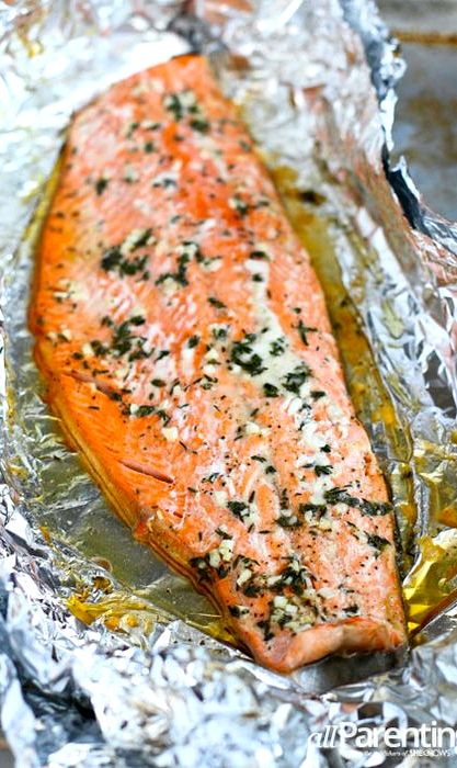 Cooking salmon in foil recipe