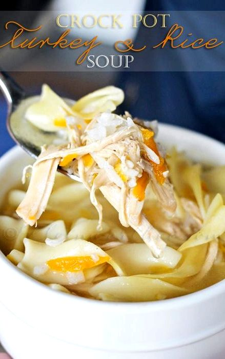 Crock pot turkey noodle soup recipe easy