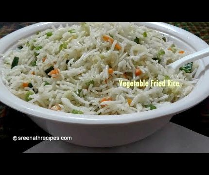 Fried rice recipe vegetable in tamil