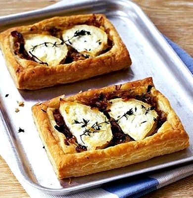 Goats cheese red onion tartlet recipe