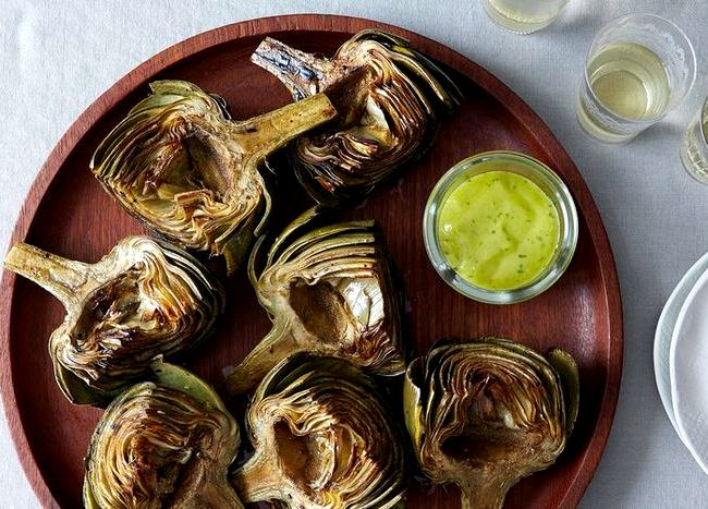Grilled artichokes with aioli recipe