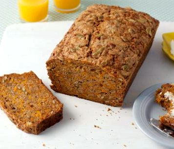 Healthy fresh pumpkin bread recipe