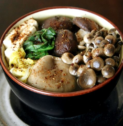 Japanese mushroom hot pot recipe