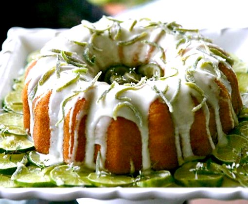 Key Lime Pound Cake With Cream Cheese Frosting Recipe