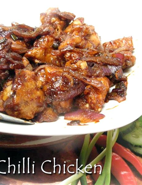 Kolkata style chilli chicken recipe