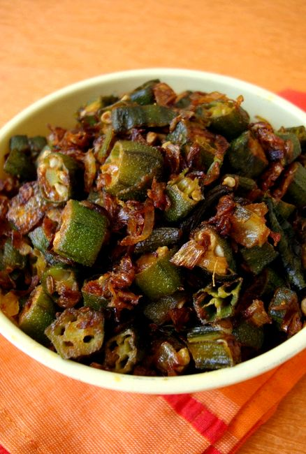 Okra fry recipe andhra style indian
