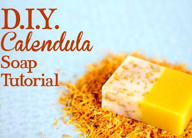 Orange and calendula soap recipe