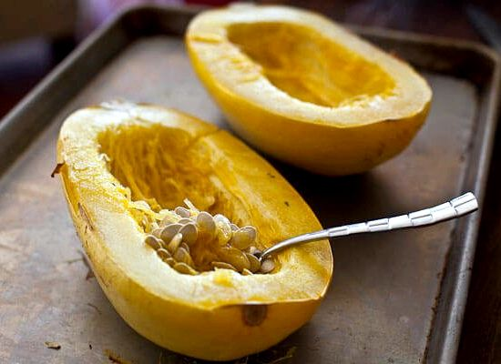 Oven roasted spaghetti squash recipe