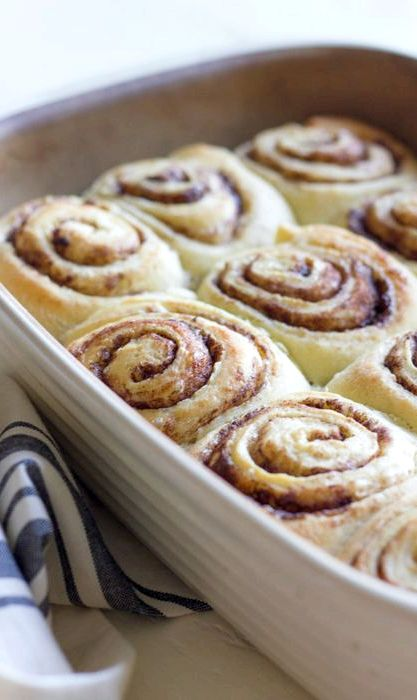 Overnight cinnamon roll recipe with ice cream