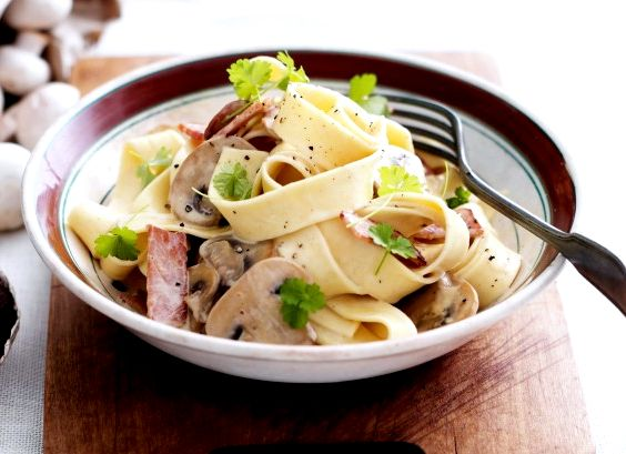 Pappardelle pasta recipe mushrooms and fish