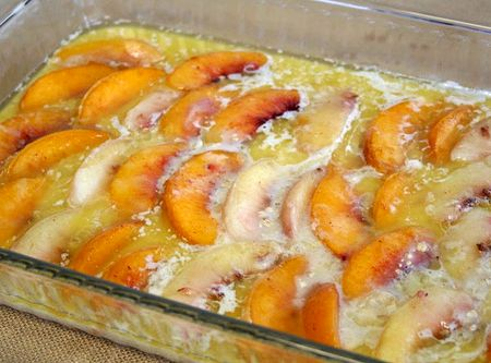 Peach Cake With Canned Peaches Recipe
