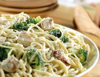 Recipe for chicken alfredo for a crowd