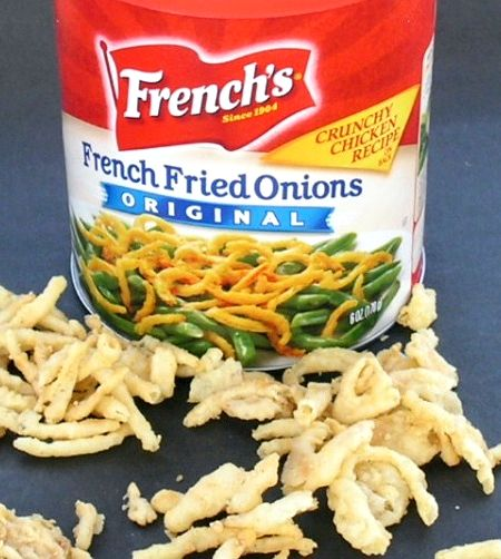 Recipe for green bean casserole with french-fried onions substitute