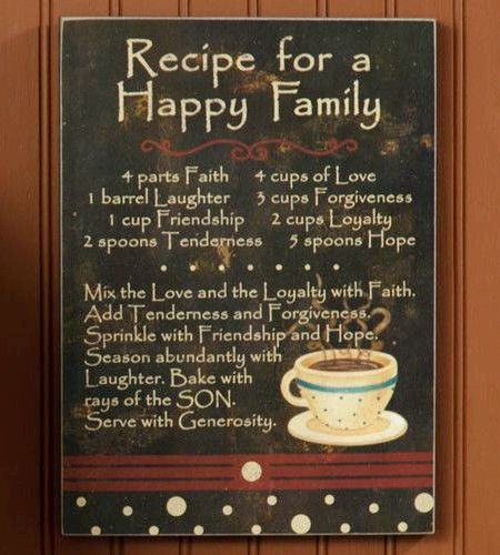 Recipe For Happy Family Poem