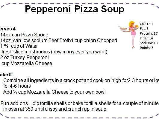 Recipe for pepperoni pizza soup