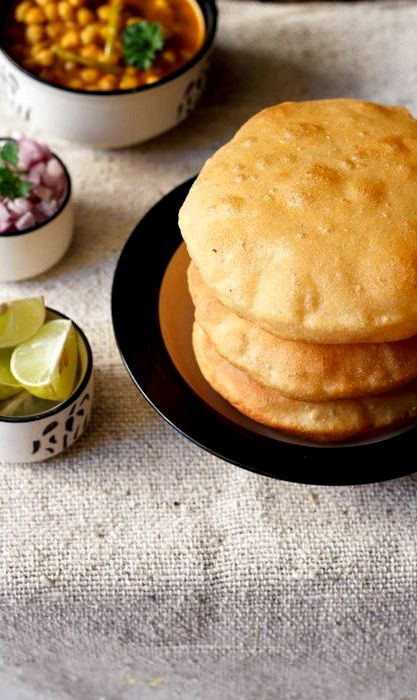 Spicy aloo bhatura recipe without yeast