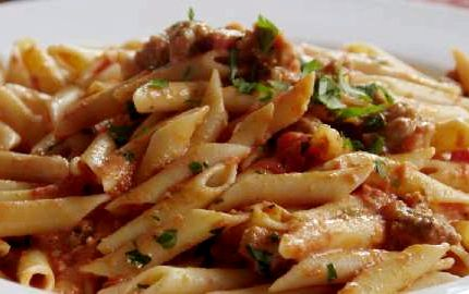 Spicy sausage arrabiata penne recipe