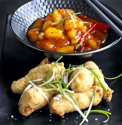 Sweet and sour chicken cantonese style recipe bbc