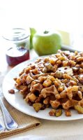 Apple cinnamon waffle topping recipe