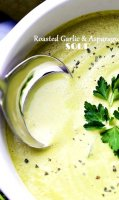 Asparagus roasted garlic soup recipe