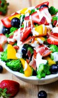 Bacon dressing recipe salads with fruit