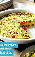 Baked cheese and bacon omelette recipe