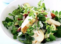 Basic chicken salad recipe with watercress