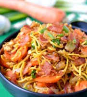 Beef lo mein recipe cabbage bacon