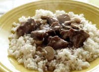 Beef tips with rice recipe