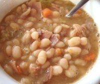 Best recipe for ham and navy bean soup