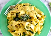 Blue cheese pasta spinach recipe