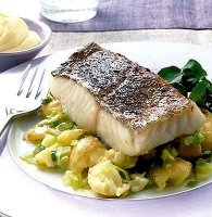 Boiled fish and potatoes recipe