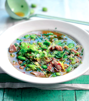 Broad bean and ham soup recipe