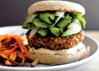 Brown rice and vegetable-based burger recipe