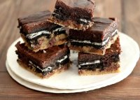 Brownie mix and oreo cookie recipe