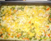 Campbells cheesy chicken and rice casserole recipe