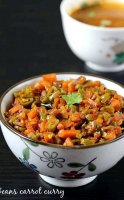 Carrot beans and potato curry recipe