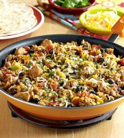 Chicken black bean tomato rice recipe