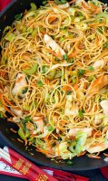 Chicken chow mein recipe with spaghetti noodles