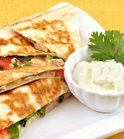 Chicken quesadilla with cream cheese recipe