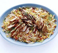 Chicken with rice noodles recipe